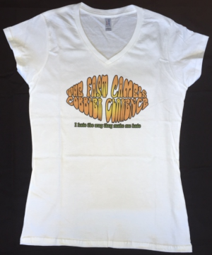 The fast Camels tshirt CC ladies Vneck white